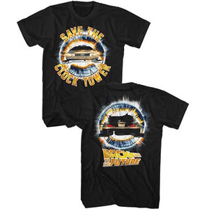MEN'S BACK TO THE FUTURE CLOCKTOWER LIGHTWEIGHT TEE - Blue Culture Tees