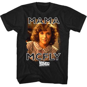 MEN'S BACK TO THE FUTURE MAMA MCFLY LIGHTWEIGHT TEE - Blue Culture Tees