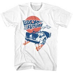 MEN'S BACK TO THE FUTURE BTTF TEE - Blue Culture Tees