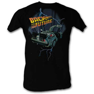 MEN'S BACK TO THE FUTURE LIGHTNING CAR LIGHTWEIGHT TEE - Blue Culture Tees