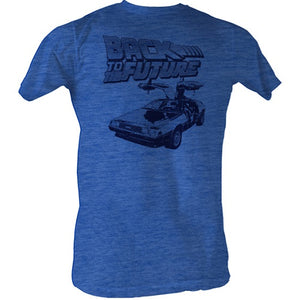 MEN'S BACK TO THE FUTURE BTF HALFTONE LIGHTWEIGHT TEE - Blue Culture Tees
