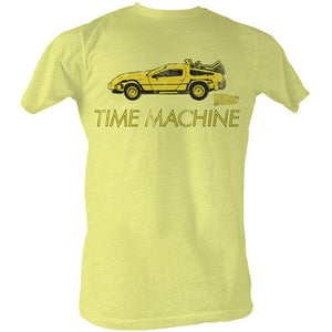MEN'S BACK TO THE FUTURE DELOREAN LIGHTWEIGHT TEE - Blue Culture Tees