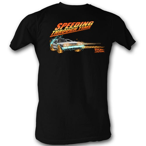 MEN'S BACK TO THE FUTURE DRIFTING THRU TIME 1 LIGHTWEIGHT TEE - Blue Culture Tees