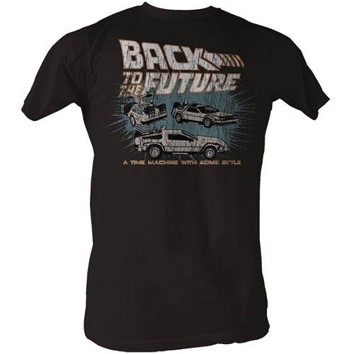 MEN'S BACK TO THE FUTURE CARS LIGHTWEIGHT TEE - Blue Culture Tees