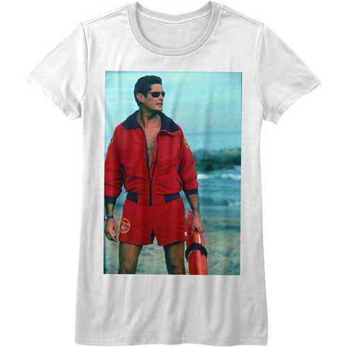 WOMEN'S BAYWATCH ON THE BEACH TEE