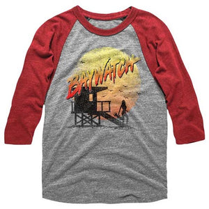 MEN'S BAYWATCH CRACKED UP RAGLAN TEE - Blue Culture Tees