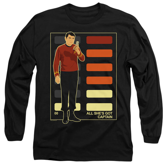 Men's Star Trek TOS All She's Got Captain Long Sleeve Tee