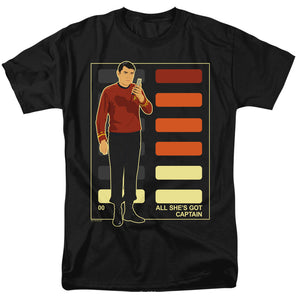 Men's Star Trek TOS All She's Got Captain Tee