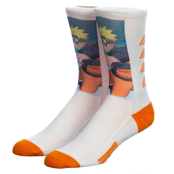Naruto Graphic Sublimated Crew Socks