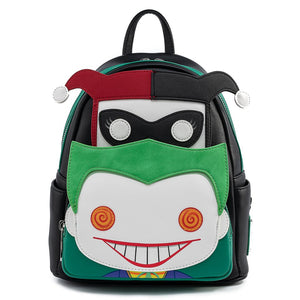 POP BY LOUNGEFLY DC JOKER AND HARLEY MINI BACKPACK - PREORDER