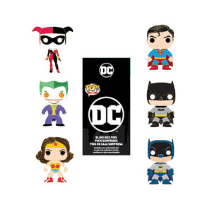 POP BY LOUNGEFLY DC COMICS BLIND BOX ENAMEL PIN - PREORDER