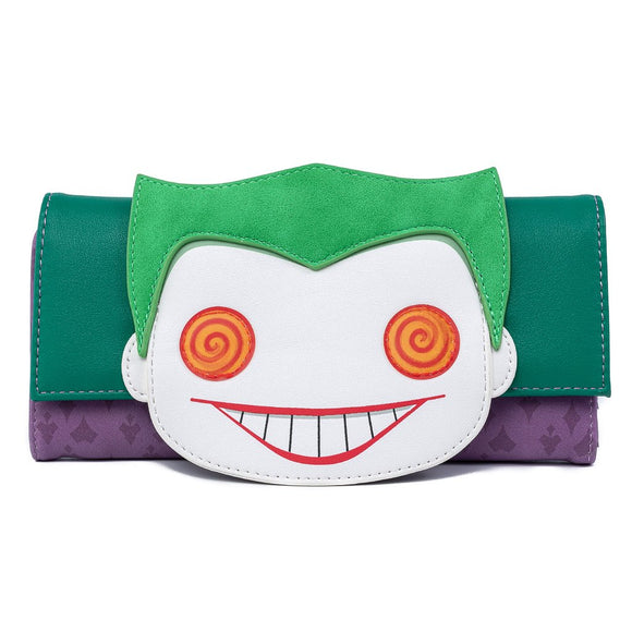 POP BY LOUNGEFLY DC JOKER EYES WALLET