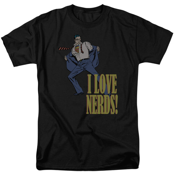 Men's DC Comics Superman I Love Nerds Tee