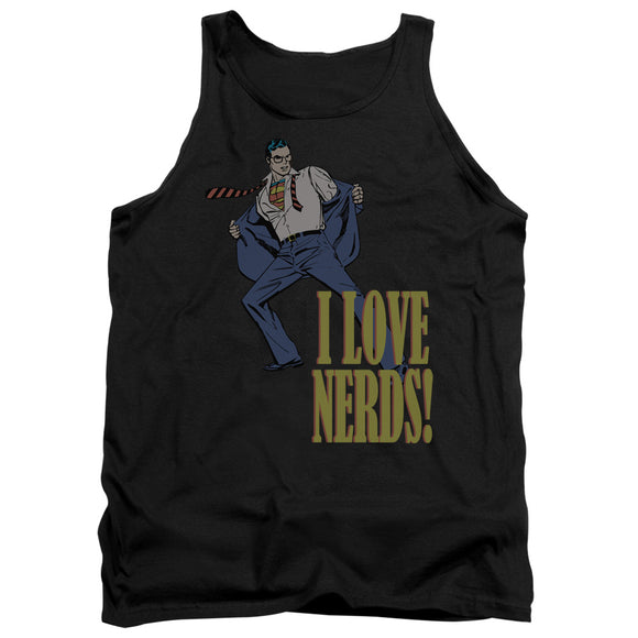 Men's DC Comics Superman I Love Nerds Tank Top