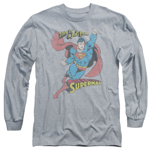 Men's DC Comics Superman On The Job Long Sleeve Tee