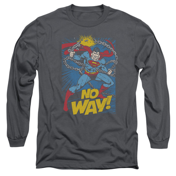 Men's DC Comics Superman No Way Long Sleeve Tee