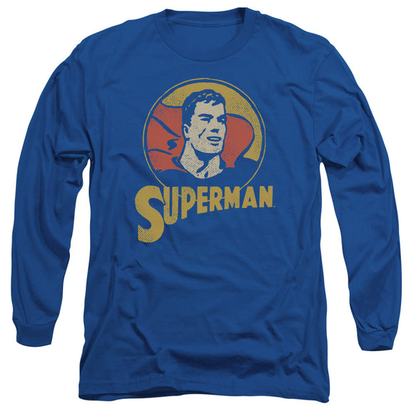Men's DC Comics Superman Super Circle Long Sleeve Tee