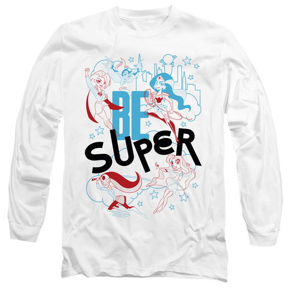 MEN'S DC SUPERHERO GIRLS BE SUPER LONG SLEEVE TEE