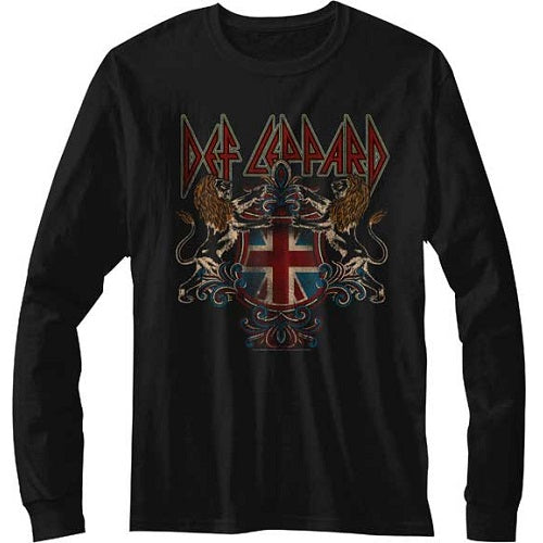 MEN'S DEF LEPPARD DEFCREST LONG SLEEVE TEE