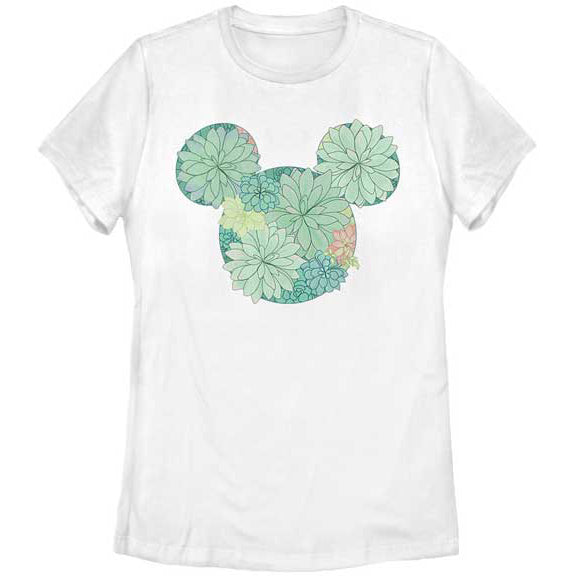 Women's Dinsey Mickey Mouse Succulents Tee