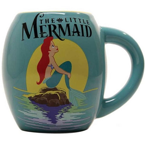 DISNEY THE LITTLE MERMAID MOVIE POSTER CERAMIC OVAL MUG - Blue Culture Tees