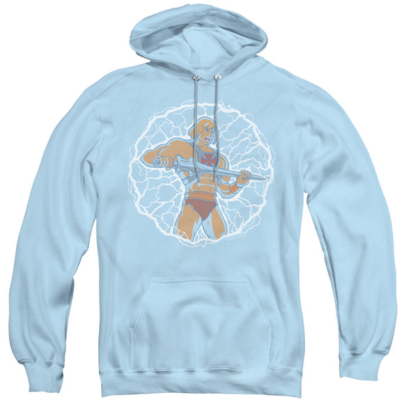 MEN'S MASTERS OF THE UNIVERSE LIGHTNING POWER PULLOVER HOODIE