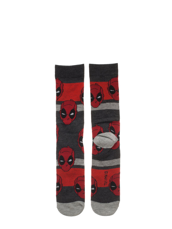 MEN'S MARVEL COMICS DEADPOOL CASUAL CREW SOCKS 5-PACK - Blue Culture Tees