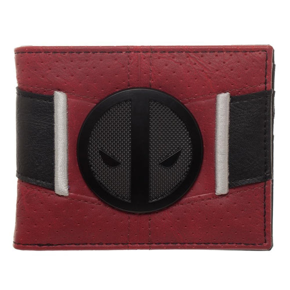 Marvel Deadpool Black Badge Suit Up Bi-Fold Wallet - Blue Culture Tees
