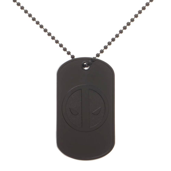 MARVEL DEADPOOL BLACK ON BLACK DOG TAG - Blue Culture Tees