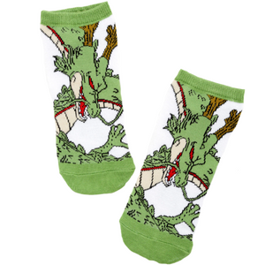 DRAGON BALL SUPER SHENRON NO-SHOW SOCKS - Blue Culture Tees