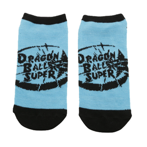 Dragon Ball Super Blue No-Show Socks - Blue Culture Tees