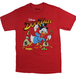 MEN'S DISNEY DUCK TALES SCROOGE MCDUCK TEE - Blue Culture Tees