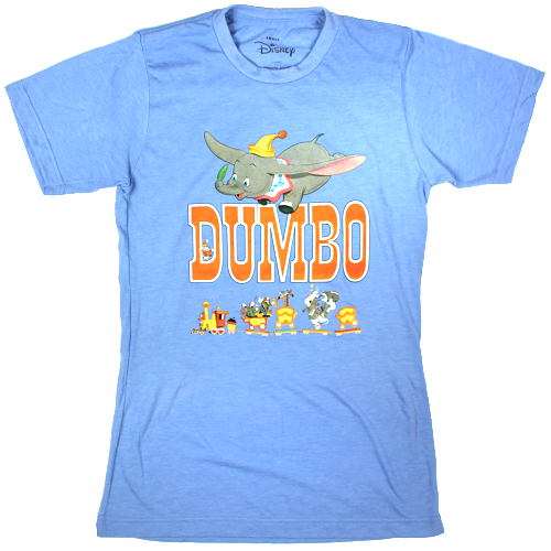 MEN'S DISNEY DUMBO CIRCUS TRAIN TEE - Blue Culture Tees