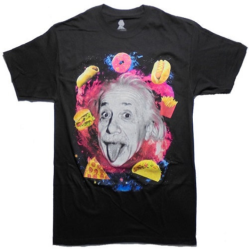 MEN'S EINSTEIN FOOD UNIVERSE TEE - Blue Culture Tees