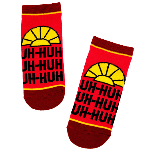 DISNEY THE EMPEROR'S NEW GROOVE UH-HUH NO-SHOW SOCKS