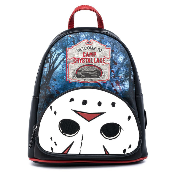 LOUNGEFLY JASON CAMP CRYSTAL LAKE MINI BACKPACK
