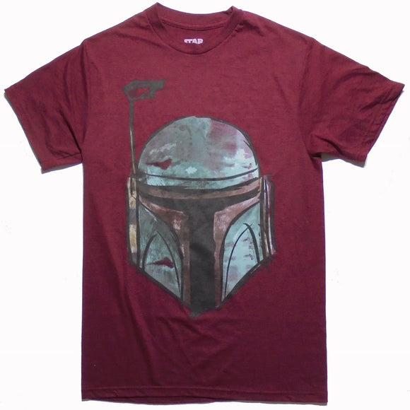 MEN'S STAR WARS BOBA FETT MASK TEE - Blue Culture Tees