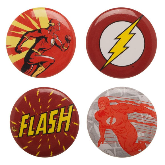 DC COMICS THE FLASH BUTTON SET - Blue Culture Tees