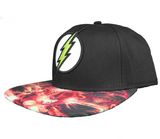 DC Comics Flash Lightning Sublimation Bill Snapback Hat - Blue Culture Tees