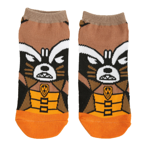 MARVEL GUARDIANS OF THE GALAXY ROCKET NO-SHOW SOCKS - Blue Culture Tees