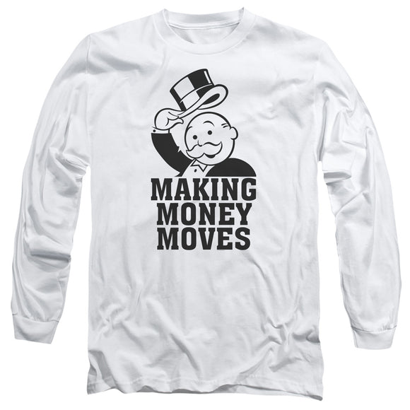 MEN'S MONOPOLY MONEY MOVES LONG SLEEVE TEE