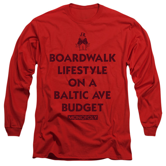 MEN'S MONOPOLY LIFESTYLE VS BUDGET LONG SLEEVE TEE