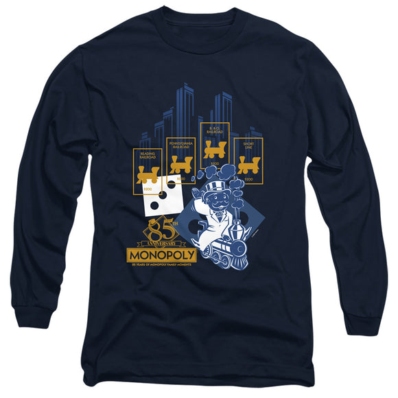 MEN'S MONOPOLY RAILROAD TYCOON LONG SLEEVE TEE
