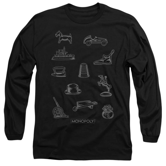 MEN'S MONOPOLY TOKEN LONG SLEEVE TEE