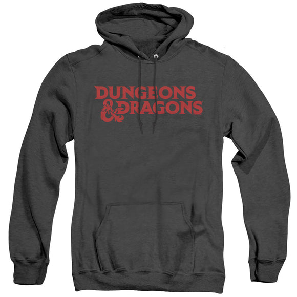 MEN'S DUNGEONS AND DRAGONS TYPE LOGO HEATHER PULLOVER HOODIE