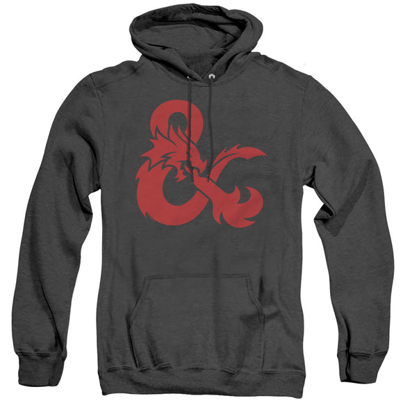 MEN'S DUNGEONS AND DRAGONS AMPERSAND LOGO HEATHER PULLOVER HOODIE