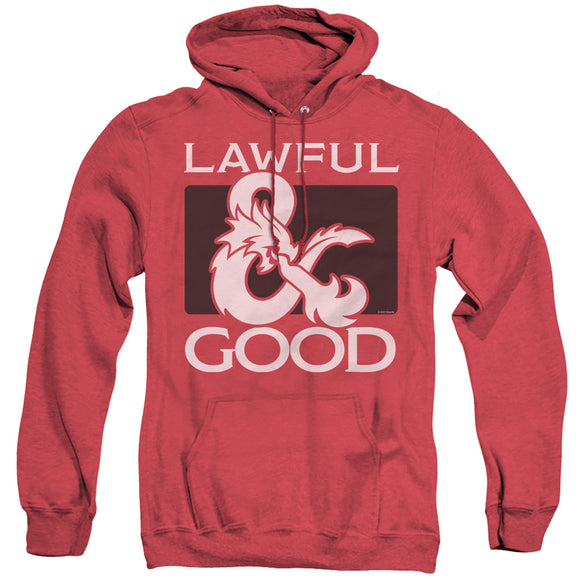 MEN'S DUNGEONS AND DRAGONS LAWFUL GOOD HEATHER PULLOVER HOODIE