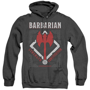 MEN'S DUNGEONS AND DRAGONS BARBARIAN HEATHER PULLOVER HOODIE
