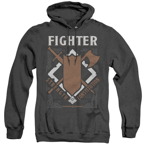 MEN'S DUNGEONS AND DRAGONS FIGHTER HEATHER PULLOVER HOODIE