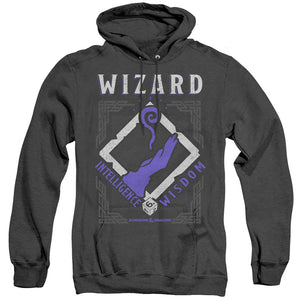 MEN'S DUNGEONS AND DRAGONS WIZARD HEATHER PULLOVER HOODIE